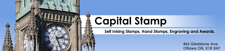 Welcome To Capital Stamp We Are Ottawas First Stop For Any Of Your Self Inking Or Traditional Hand Needs Also Carry Various Types Awards